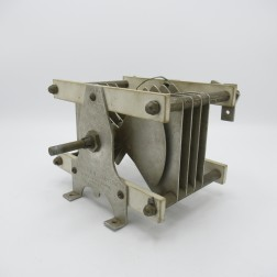 """CX62C Barker & Williamson H.D. Variable Capacitor, Butterfly, 20-65pf 9kv 0.22"""" gap 8 plates (Used, Good Condition)"""