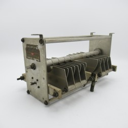 """152-507  EF Johnson Variable Capacitor, 2 Section 18-50 pf 11kv 0.35"""" gap 8 plates per section (Pull)"""