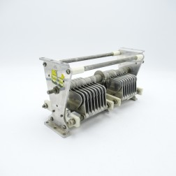 """1628 Bud Variable Capacitor, 2 section 20-150pf 6kv 0.10"""" gap 17 plates per section (Pull)"""