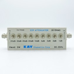 839 Kay Electronics 101db 50 Ohm Switching Attenuator, DC-2GHz, 3w