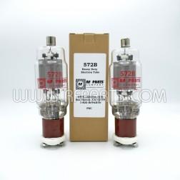 572B RF Parts Company SELECT Transmitting Tube, Matched Pair (2)