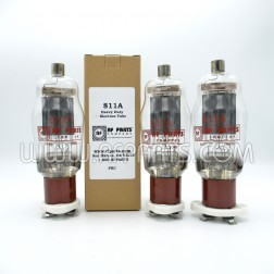 811A RF Parts Company SELECT Transmitting Tube, Matched Set of Three (3)