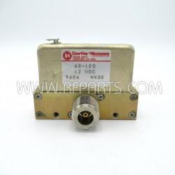 63-103 Dow Key Failsafe Coax Relay SPDT 12vdc