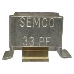 Metal Cased Mica Capacitor, 33pf, 250v, Semco (J101-33C)