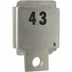 Metal Cased Mica Capacitor, 43pf, 350v (J101-43A)