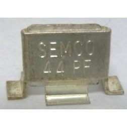 Metal Cased Mica Capacitor, 44pf, 350v, Semco  (J101-44C)