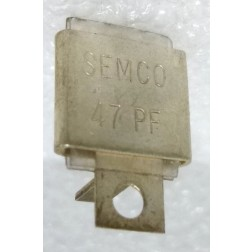 Metal Cased Mica Capacitor, 47pf, 350v, Semco (J101-47B)