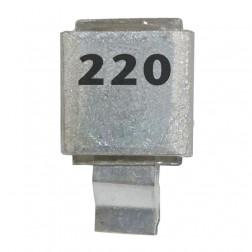 Metal Cased Mica Capacitor, 220pf, 100v, Semco (J602-220)