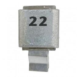 Metal Cased Mica Capacitor, 22pf, 250v, Semco (J602-22)