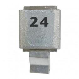 Metal Cased Mica Capacitor, 24pf, 250v, FW/ Semco (J602-24)