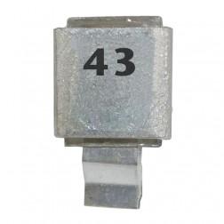 Metal Cased Mica Capacitor, 43pf, 250v, FW, (J602-43)