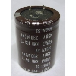 KMH450VN391M Capacitor,snap lock can 390uf 450v 35x45 mm.  Chemicom