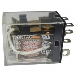 KRLY2240 Relay, DPDT, 10 amp, 240vac coil, KEST MFG, INC.