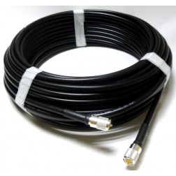 LMR400 Cable Assembly, 50' with PL259 Connectors on both sides (L400UMUM-50)