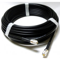 LMR400UF Cable Assembly, 10' with Amphenol PL259 & Type-N Male Connectors (L400UFNMUM-10)