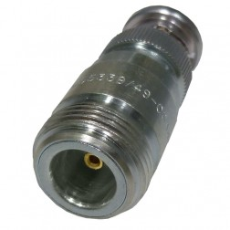 M55339/49-00349  Between Series Adapter, BNC Male to Type-N Female, Mil-Spec, Delta