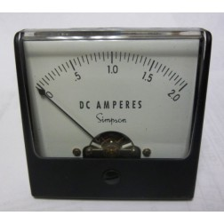 1227-A2 Simpson Meter Movement 0-2ADC (NOS)