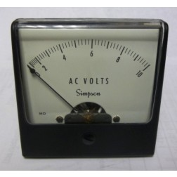 1257-V10 Simpson Meter Movement 0-10vac (NOS)