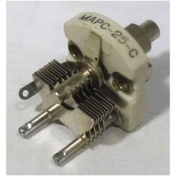 MAPC25C Variable Capacitor, Panel Mount, 2.6 - 25 pf, Hammarlund