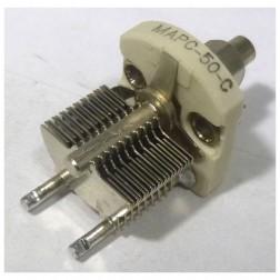 MAPC50C Variable Capacitor, Panel Mount, 3.2 - 50 pf, Hammarlund