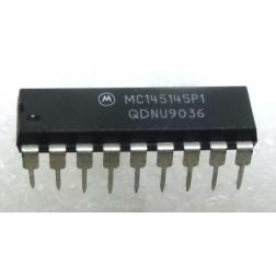 MC145145P1 4–Bit Data Bus Input PLL Frequency Synthesizer, Motorola