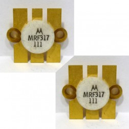 MRF317 NPN Silicon Power Transistor, 100W, 30-200MHz, 28V, Matched Pair, Motorola