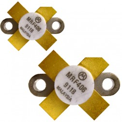 MRF406 NPN Silicon RF Power Transistor, Matched Pair, 20 W (PEP), 30 MHz, 12.5 V, Motorola