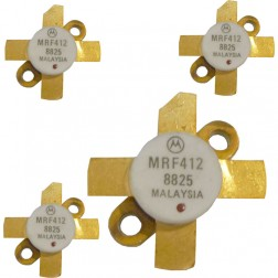MRF412  NPN Silicon RF Power Transistor, Matched Quad, 70 W (PEP or CW), 30 MHz, 13.6 V, Motorola