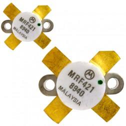MRF421  NPN Silicon Power Transistor, Matched Pair, 100 W (PEP), 30 MHz, 12 V, Motorola