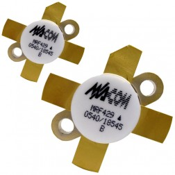 MRF429  NPN Silicon Power Transistor, Matched Pair, 150 W (PEP), 30 MHz, 50 V, M/A-COM