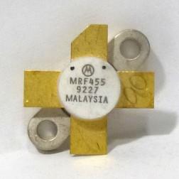 MRF455  NPN Silicon Power Transistor, 60 W, 30 MHz, 12.5 V, Motorola