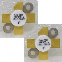 MRF455  NPN Silicon Power Transistor, Matched Pair, 60w, 14-30 MHz, 12.5v, M/A-COM