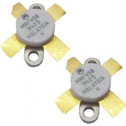 MRF458 Transistor, Matched Pair, NPN Silicon RF Power, 80 Watt, 12.5 volt, 30 MHz, Motorola