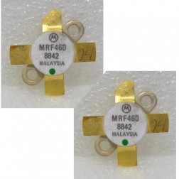 MRF460 NPN Silicon Power Transistor, 40 W (PEP), 30 MHz, 12.5 V, Matched Pair, Motorola