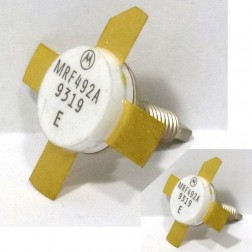 MRF492A NPN Silicon RF Power Transistor, Matched Pair, Stud Mount, 50 MHz, 70 W, 12.5 V, Motorola