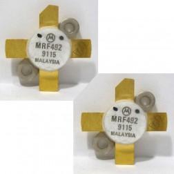 MRF492 NPN Silicon RF Power Transistor, Matched Pair, 50 MHz, 70 W, 12.5 V, Motorola