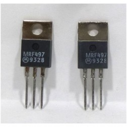 MRF497 NPN Silicon RF Power Transistor, Matched Pair, 40 Watt, 50 MHz, 12 volt, Motorola (Can replace MRF477)