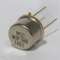 MRF586 RF & Microwave Discrete Low Power NPN Silicon Transistor, Microsemi