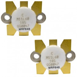 MRF648 NPN Silicon RF Power Transistor, 12.5 V, 470 MHz, 60 W, Matched Pair, Motorola
