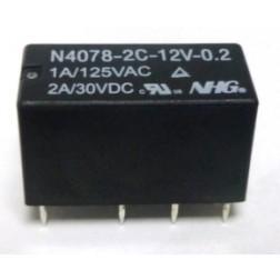 N4078-2C-12V-0.2 Relay, DPDT, 2a,  NHG