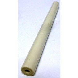 "NL523W01-450 Standoff Insulator, Glazed Ceramic, 4 1/2"" Long x 3/8"" Diameter with Threaded Mounting Holes"