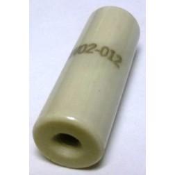 "NL523W02-012 Standoff Insulator, Glazed Ceramic, 1 1/2"" Long x 1/2"" Diameter with Threaded Mounting Holes, Centralab"