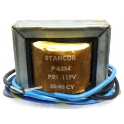 P-8384 Low voltage transformer, 117VAC, 12.6v C.T., 1 amp, Stancor
