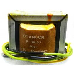 P-8667 Low voltage transformer, 117VAC, 28v C.T., 1 amp, Stancor