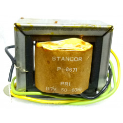 P-8671 Low voltage transformer, 117VAC, 36v C.T., 1 amp, Stancor