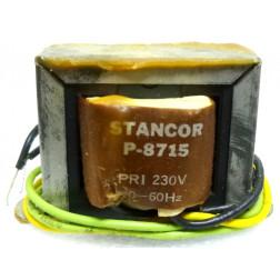 P-8715 Low voltage transformer, 230VAC, 12.6v C.T., 2 amp, Stancor