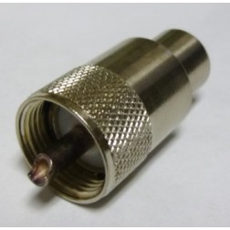 PL259-1 UHF Male Solder Type Connector,  Straight, Knurled Nut, USA
