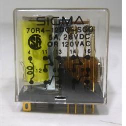 R10E1X4V185 Relay, 4pdt 5amp 12v 185ohm, (70R4-12DC-SCO),Sigma