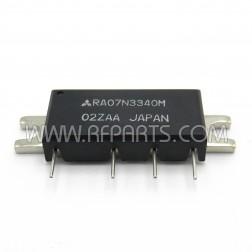 RA07N3340M Mitsubishi RF Power Module 330-400 MHz 7 Watt 9.6V (NOS)