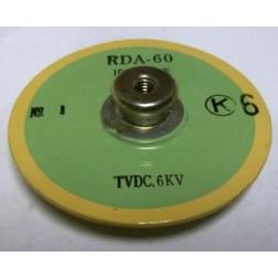 RDA-60-1000 Doorknob Capacitor, 1000pf 6kv, Murata (Clean Used)